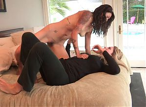 Sexy blonde and brunette explore each other's erotic zones