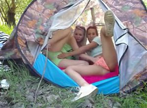 Amateur - Two Hot Young Lesbians Outdoor Play on Cam