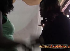 Black chicks in steamy lesbian adventure