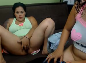 Chubby lesbians at web cam