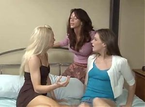 MILF Fucked Two Lovely Lesbians,By Blondelover.