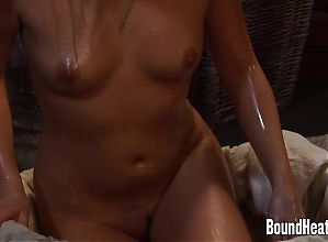 Gorgeous Blonde Slave Taking A Bath