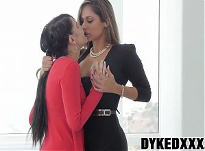 Good looking lesbian whores have massive yummy fuck fest