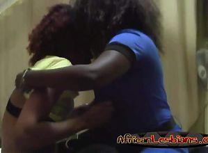Milf ebony pussy affair with black teen