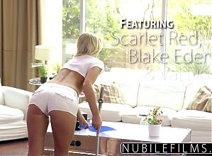 NubileFilms - Lesbian Threesome With BFF & Lil Sis