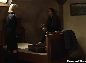 Mistress defending her slaves from attackers