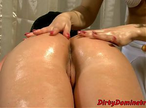 Bigass domina pleasured by her kinky slave