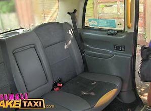 Female Fake Taxi Lesbian cab driver finger fucks tv babe