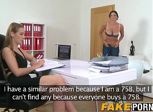 Female agent Alexis gets into a steamy lesbian session