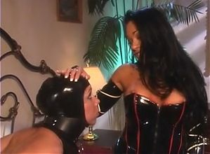 Sexy latex lesbian domination